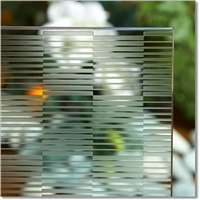 1830*2440/ 1650*2200 mm acid etched glass, decorative glass