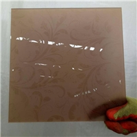 brown acid etched glass
