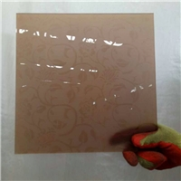 BYT003 brown acid etched glass