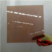 AA grade brown acid etched glass