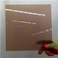4 mm pakistan brown acid etched glass