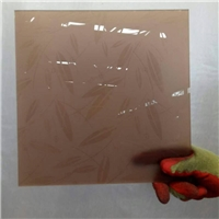 3.8-6 mm brown acid etched glass