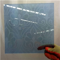 colored acid etched glass with different designs