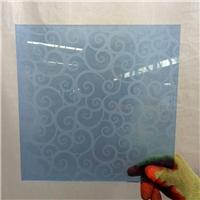 2440*1830/ 1650*2200 blue acid etched glass