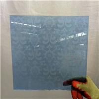 4 mm blue acid etched glass