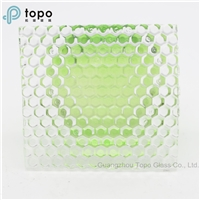 3mm-8mm Ultra Clear Pattern Figured Glass for Bathroom Doors (UCP-TP)