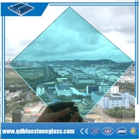 6.38mm Blue Laminated Glass with own factory