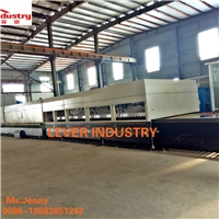 LV-DTFB2450-20L doulbe heating chambers double direction flat and bent glass tempering furnace