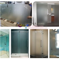 6mm/8mm/10mm/12mm Plian Shower Door Tempered /Toughened Glass with Grooves/Notche/Holes/Hinges