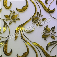 New designs ice acid etched glass, best pricewith CE &ISO from Shahe city factory