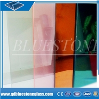 Colored safety laminated glass