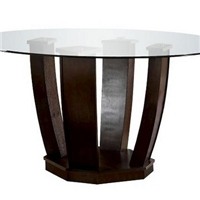 Round tempered glass dinning table