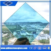 Wholesale PVB SGP  8.38mm blue laminated glass with EN/SGCC/AS certificate