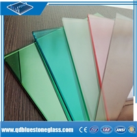 Wholesale PVB SGP 6.38mmcolored laminated glass with EN/SGCC/AS certificate