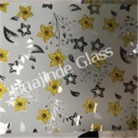 3-12mm high quality background wall glass with popular designs  , frosted door/window/ceiling /wall decorative factory