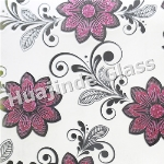 4mm ice flower  acid designs glass  , frosted door/window/ceiling /wall decorative factory