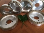 Diamond wheel for straight line edging machine and double edging machine