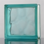 low price clear color glass block