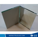 Cat II PVC Woven Fabric Film Backed Safety Mirror