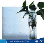 Clear karatachi patterned glass