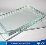 Solar control low iron glass