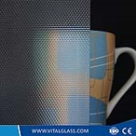 Silver Bead Patterned Glass