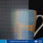 Silver Square Patterned Glass