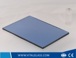 3-12mm Dark Blue Reflective Glass for Building Glass
