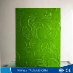Green May Flower Pattern Glass
