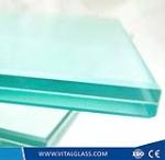 Clear laminated glass of 6.38mm thickness