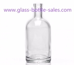 700ml Clear High Quality Vodka Glass Bottle