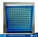 Clear/Blue Parallel glass Block/Brick with Pattern