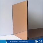 6mm Golden Bronze Reflective Glass with CE&ISO9001