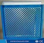 Blue Lattice Glass Block