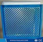 Customized Design Blue Parallel Glass Block (G-B)