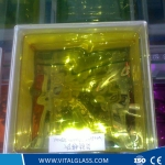 High Quality Inner Yellow Glass Block for Decoration (G-B)
