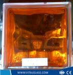 High Quality Inner Orange Glass Block for Decoration (G-B)