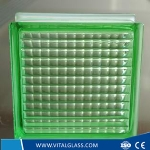 Toughened Safety Green Parallel Glass Block (G-B)