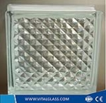 Clear Lattice Pattern Glass Block for Decoration (G-B)