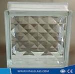 Clear Lattice Glass Block/Brick for Decoration glass