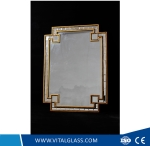 Double-Edge Golden Decorative Spell Mirror