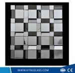 Striped-Frame Decorative Mirror