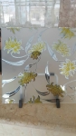 acid etched glass, ice flower glass, decorative glass, 1830*2440 mm