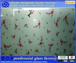 silk print glass, clear/frosted decorative art  glass, beautiful and best price glass
