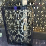 Glass and stainless steel screen