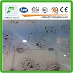 Good Quality of 5mm Art Glass Decorativ Bathroom Glass