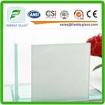 Milky Aqualite Toughened Bullet Proof Laminated Glass with Csi