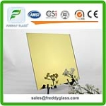 High Quality Golden Reflective Mirror Colored Mirror