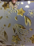 frosted glass, acid etched glass with flower designs with 1830*2440 mm