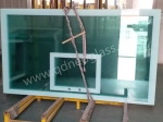 Tempered Glass with SilkScreen Print Used as Glass Basketball Board-AS/NZS:2208:1996,CE,ISO 9002